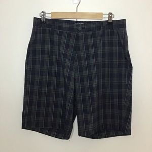 Chaps Gold Checkered Shorts